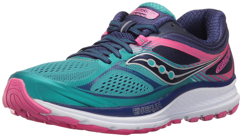 Saucony Women's Guide 10 Running Shoe B01GIPLAMM 5.5 B(M) US|Teal/Navy/Pink