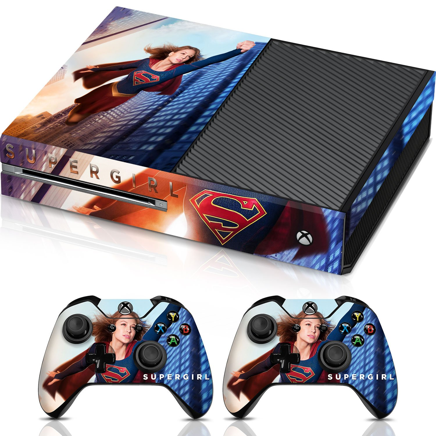 Controller Gear Supergirl Flying High - Xbox One Combo Skin Set for Console and Controller