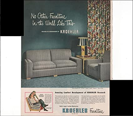 Amazon Com Kroehler Furniture Amazing Comfort Home Decor 1948