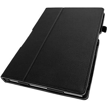 igadgitz U2880 PU Leder Tasche für Sony Xperia Z2 Tablet SGP511 mit Schutzfolie - Schwarz