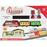 Planet of Toys Mini Electric Deluxe Train Track Game Play Set - 24 Pieces Pack for Kids, Children