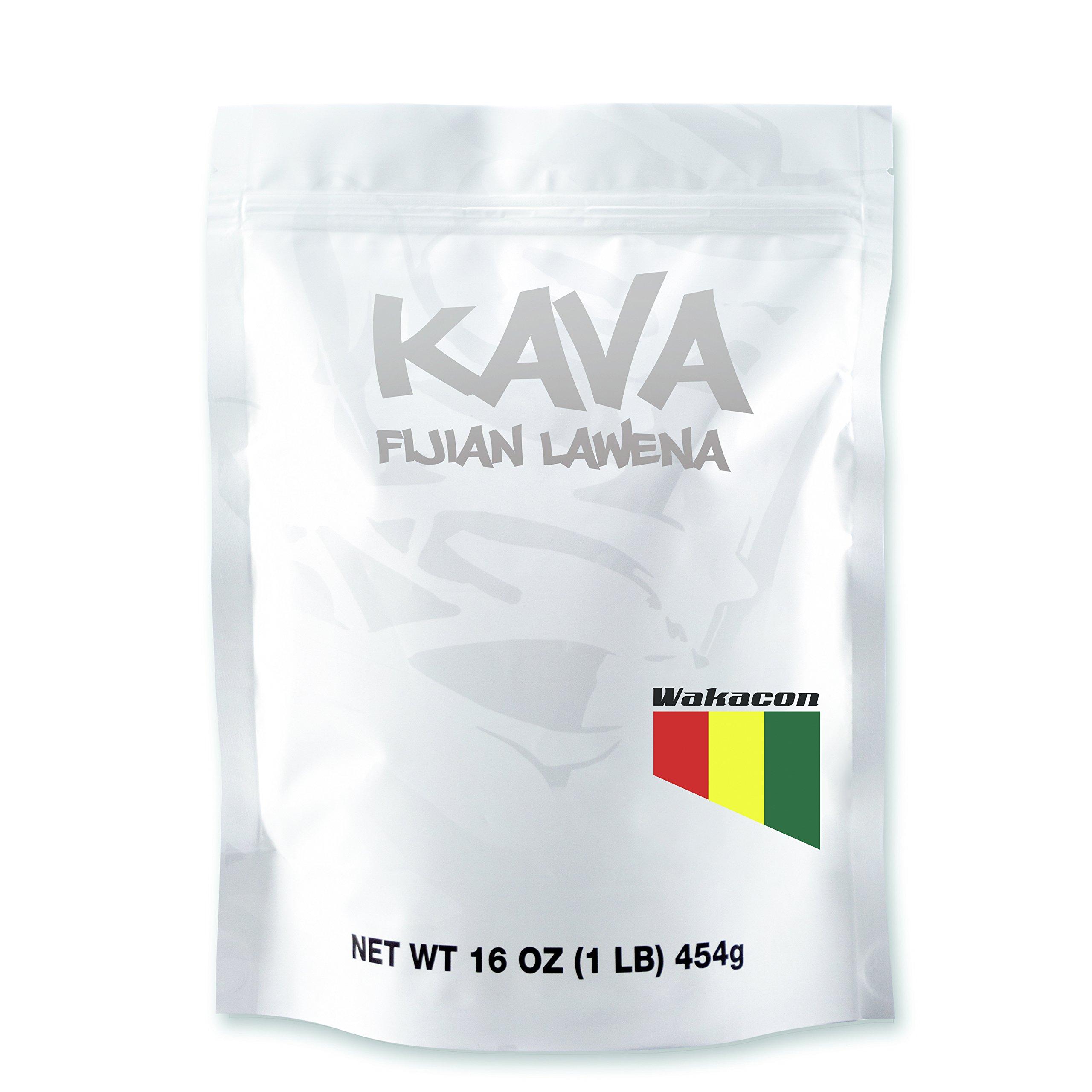 Wakacon KAVA LAWENA Powder - Fijian Noble Premium High Quality Kava Root (16oz) by Wakacon