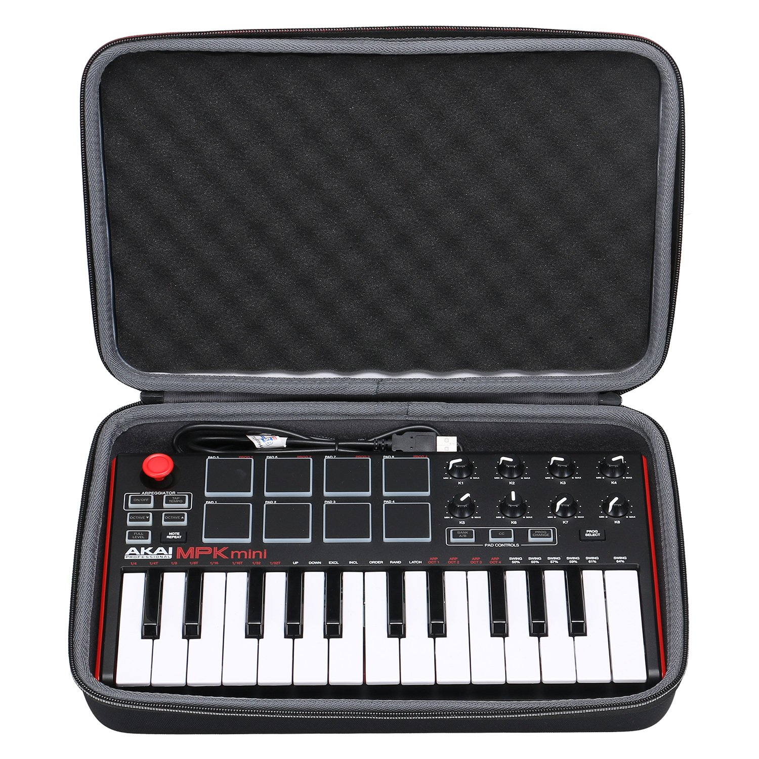XANAD Case for Akai Professional MPK Mini MKII | 25-Key Ultra-Portable USB MIDI Drum Pad & Keyboard Controller by XANAD