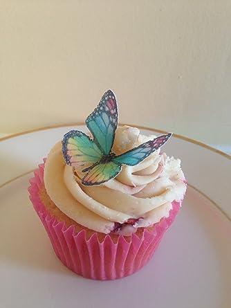Rematada Off mejorar pastel decoraciones de mariposas, varios colores, comestibles, ya perforado,