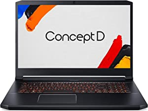 "ConceptD 5 Pro CN517-71P-72DN Creator Laptop, Intel i7-9750H, NVIDIA Quadro RTX 3000, NVIDIA RTX Studio, 17.3"" 4K Ultra HD IPS, 100% Adobe RGB, Pantone Validated, Delta E<2, 32GB DDR4, 1TB NVMe SSD"