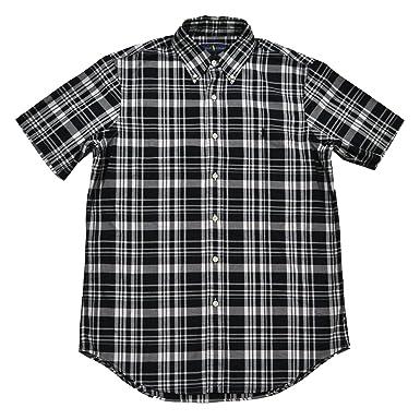 Polo Ralph Lauren Mens Checkered Button-Down Casual Shirt B/W XS