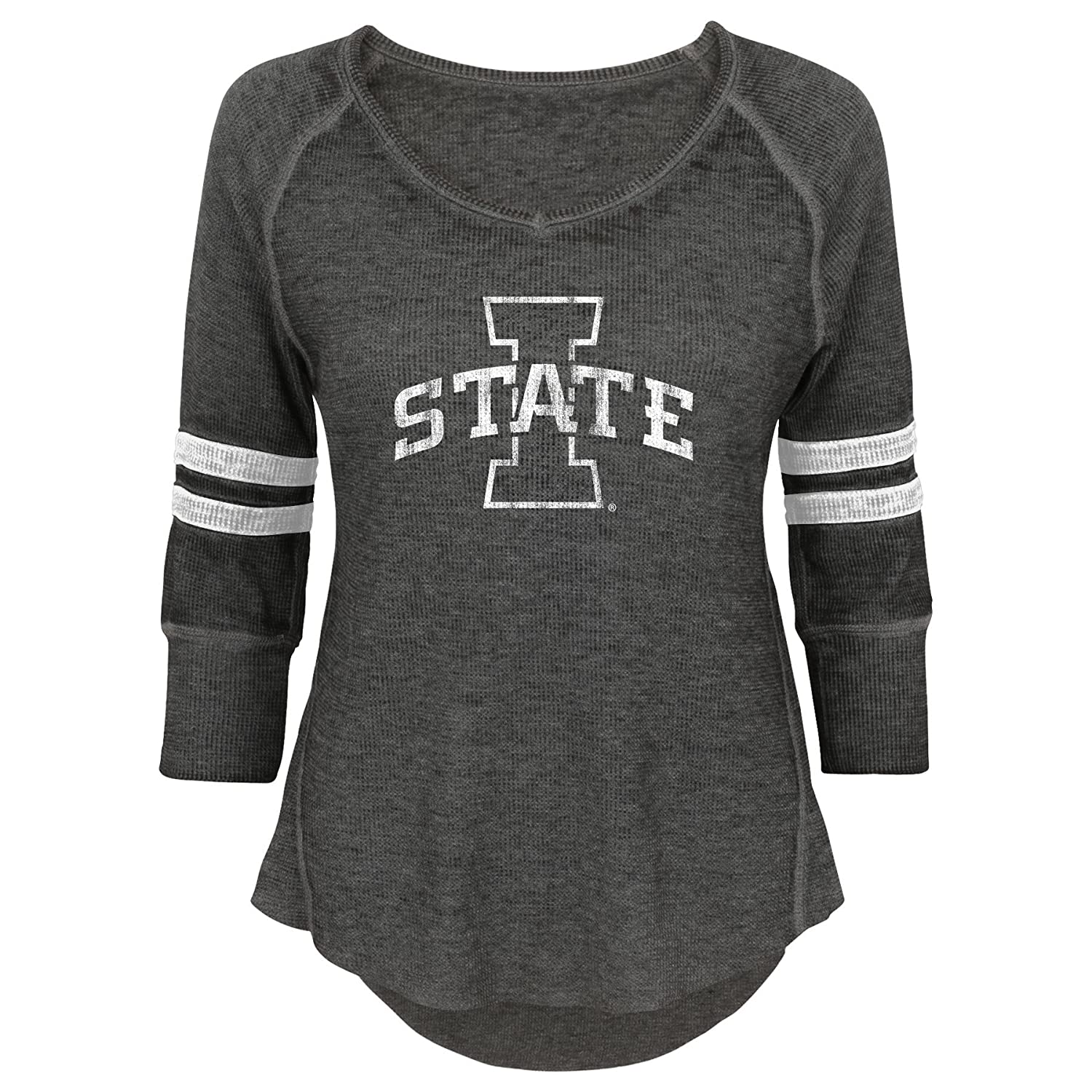 NCAA Iowa State Cyclones Juniors Outerstuff Relaxed 3//4 Raglan Thermal Top 3-5 Small Team Color