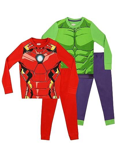 6d159b99e46dc Marvel Boys' Avengers Pajamas 2 Pack