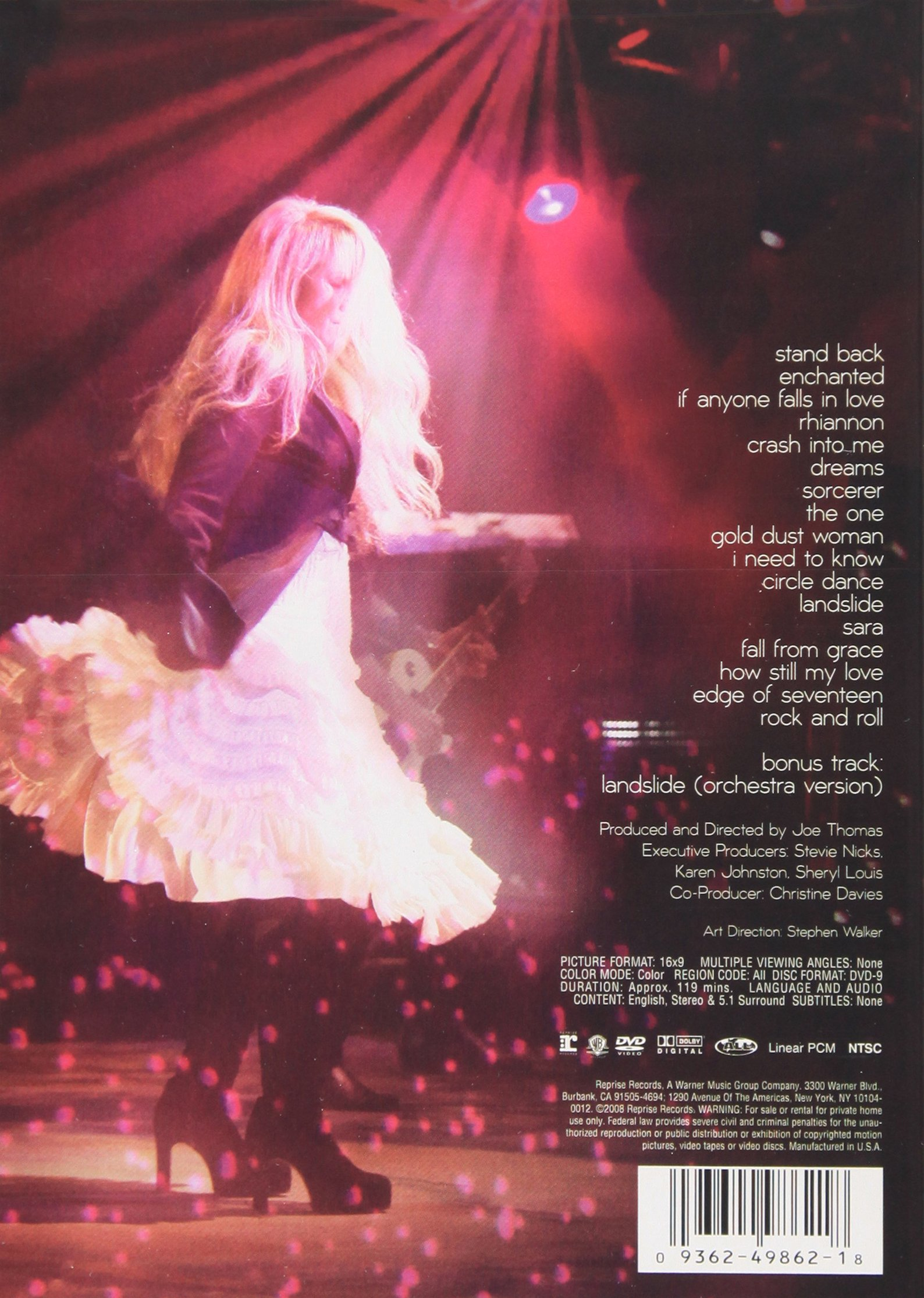 Stevie Nicks: Live in Chicago by Alfred Music