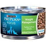 Purina Pro Plan Focus Weight Management Ground Turkey & Rice Entree Adult Wet Cat Food - (24) 3 Oz. Pull-Top Cans
