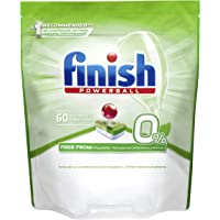 Finish 0% Dishwasher Tablets, 60 count