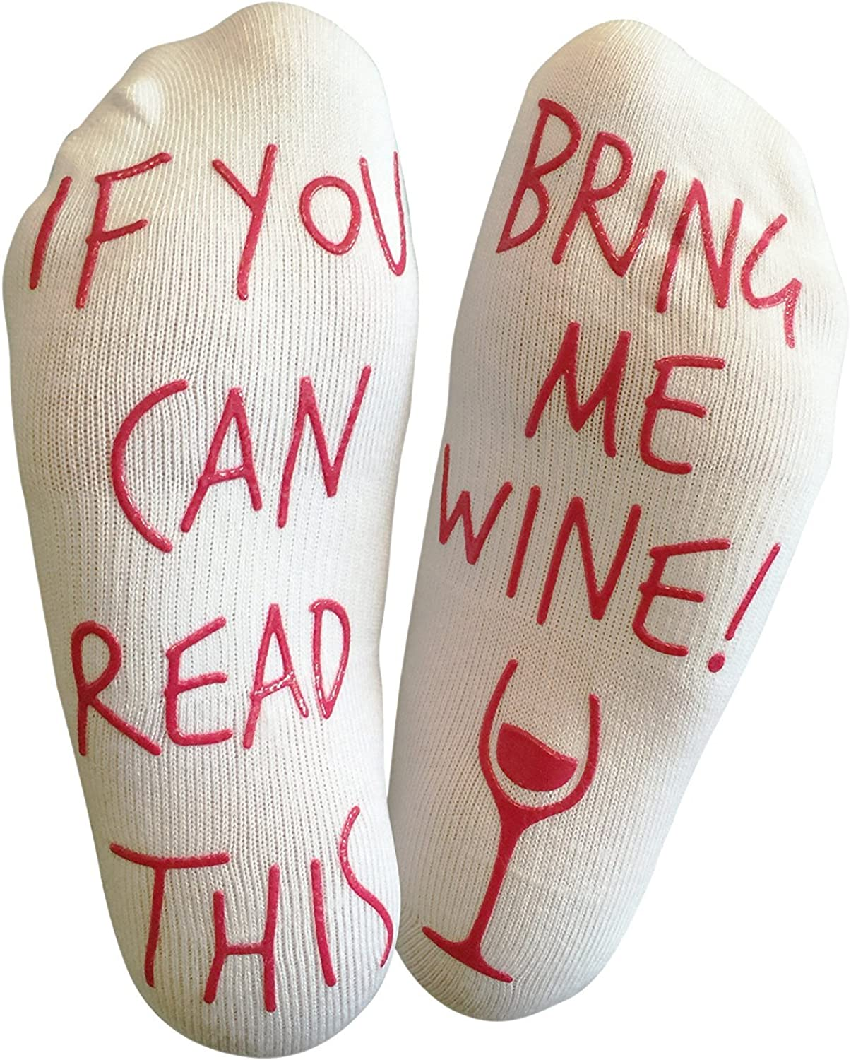 if you can read this bring me wine Socks cotton comfortable Men Women Socks  W0120