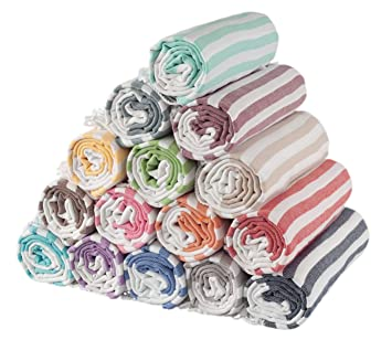 """Juego de 3 toallas turcas """"peshtemal"""" 100 % de algodón para baños turcos"""