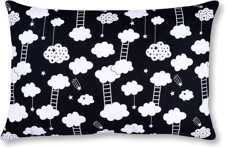 AMI Lian® – Cojín Almohada Cojín 40 cm x 60 cm Escalera Negro: Amazon.es: Bebé