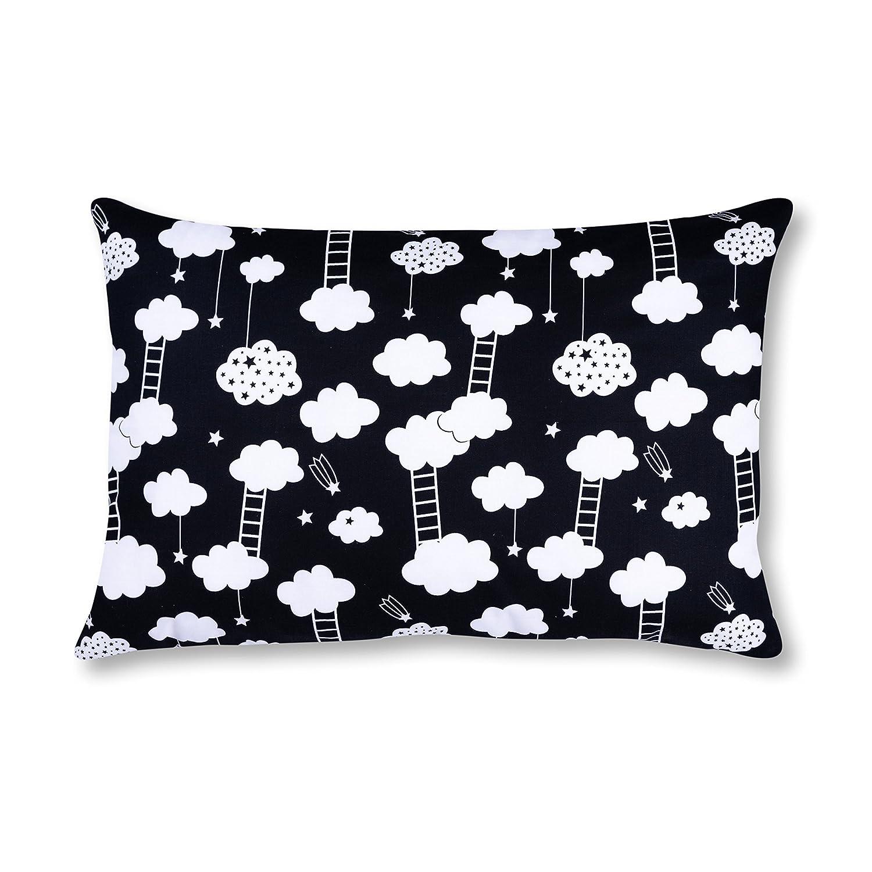 AMI Lian/® Coussin d/écoratif avec housse de coussin 40/cm x 60/cm /Échelle Noir