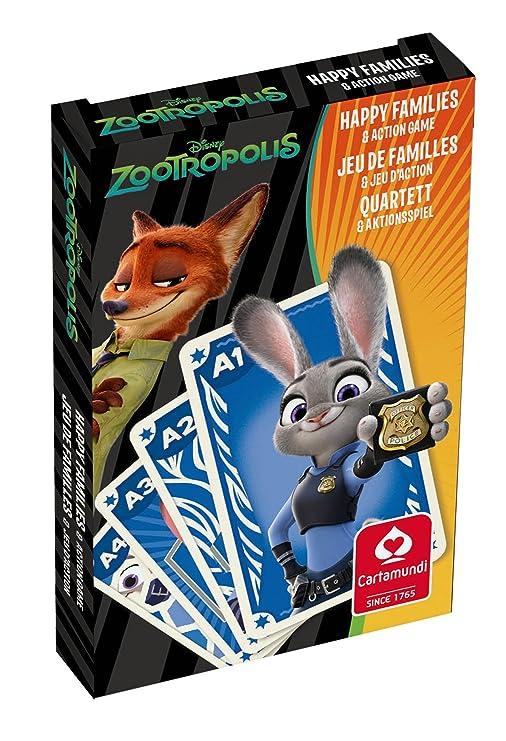 Zootropolis Happy Familias y Acción - Juego de Cartas ...