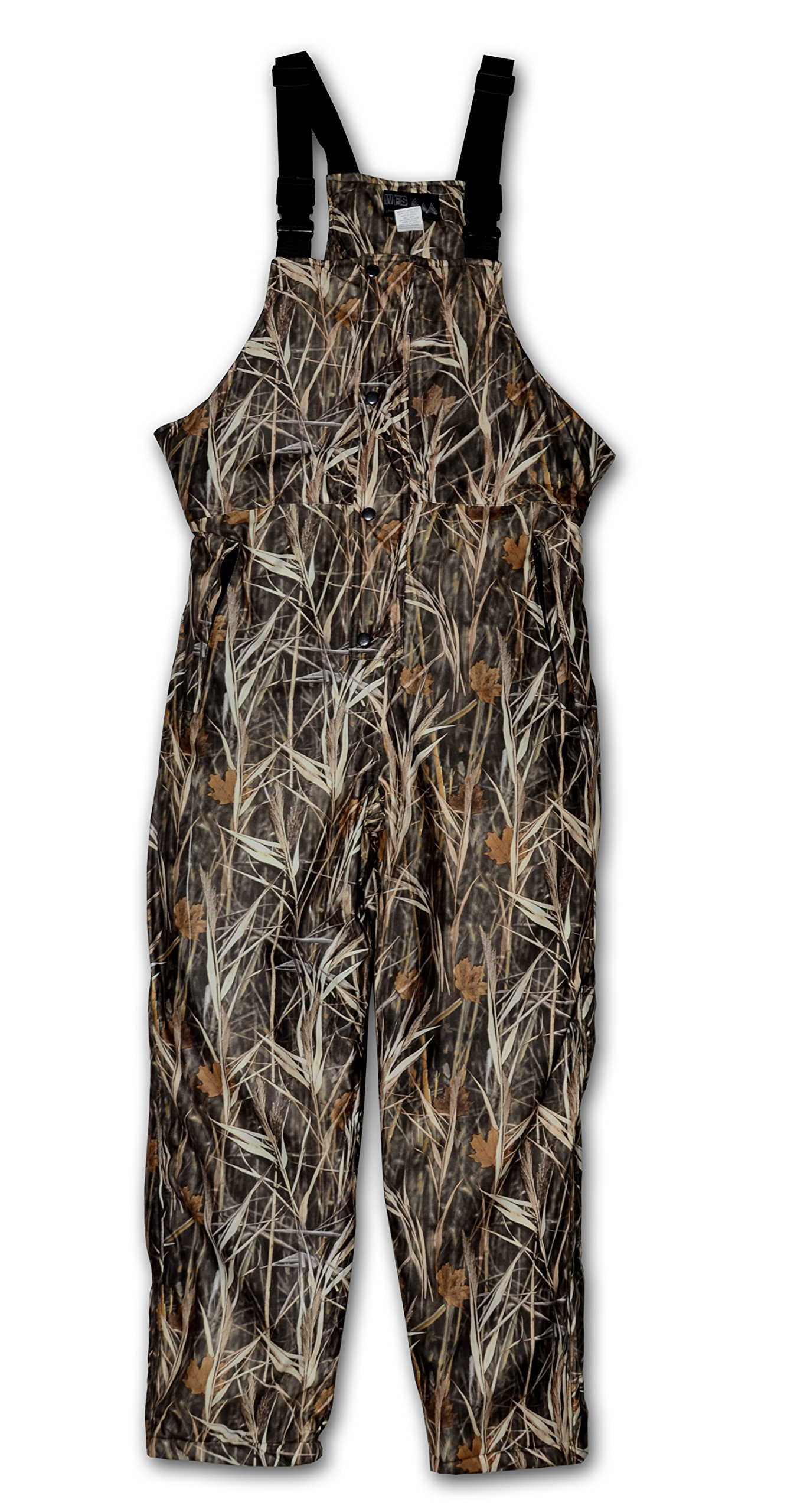 Burly Waterfowl Camo Waterproof Breathable Insulated Bib Overall by WORLD FAMOUS