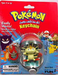 Amazon.com: Basic Fun Pokemon Pokeball Keychain Capture and ...