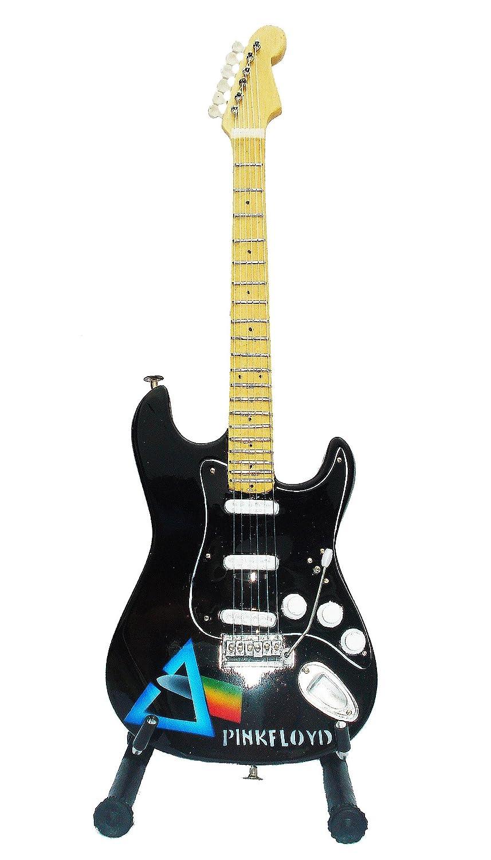 Guitarra eléctrica Pink Floyd de ferrocarril - Madera barnizado - Objeto de decoración - regalo música - incluye soporte: Amazon.es: Hogar