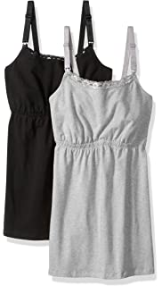da011b97bf Loving Moments by Leading Lady Women s Cotton Nursing Tank with Lace Trim  and Full Sling