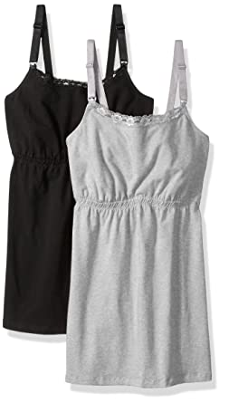 a7a3707e9b3 Loving Moments by Leading Lady Women's Cotton Nursing Tank with Lace Trim  and Full Sling 2