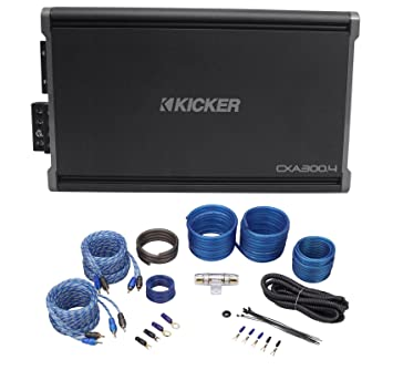 Kicker 43CXA3004 CXA300.4 300 Watt RMS 4-Ch. Car Stereo Amplifier+