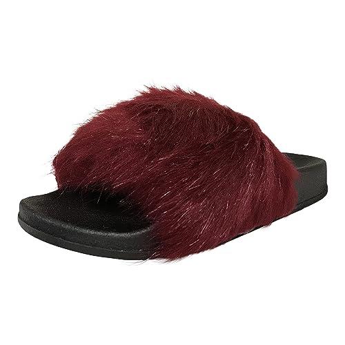 fuzzy slides amazon com