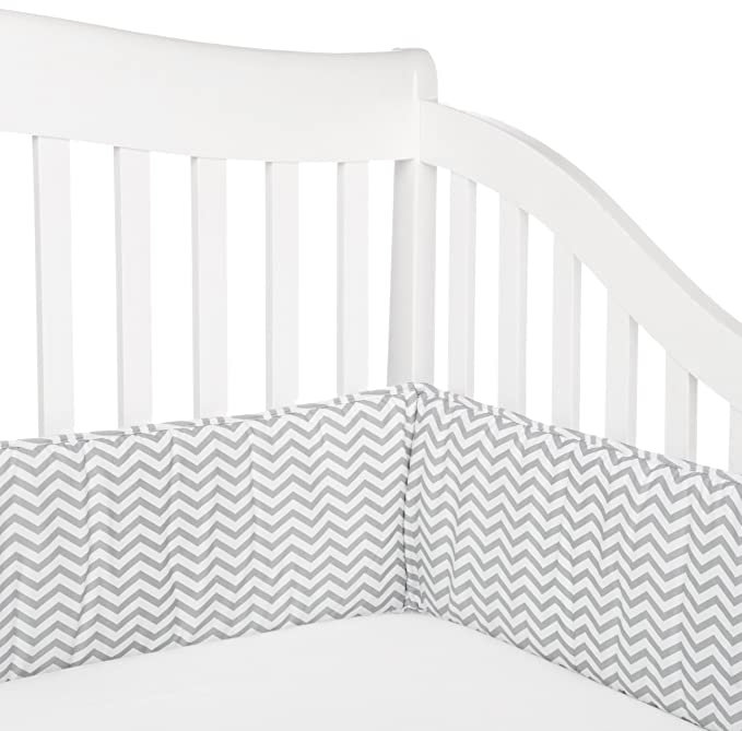 for Boys and Girls American Baby Company Cotton Percale Crib Bumper White