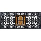 """Calloway Mills 170011741H Rubber Monogram Doormat, 17"""" x 41"""" (Letter H)"""