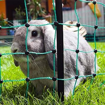 Filet pour clôture électrique de jardin pour lapins et rongeurs 12 m ...