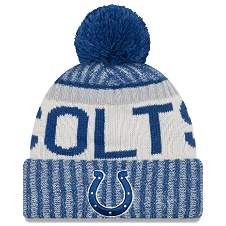 new concept 79e14 7aad2 Image Unavailable. Image not available for. Color  New Era Indianapolis  Colts NFL Sideline On Field 2017 Sport Knit ...