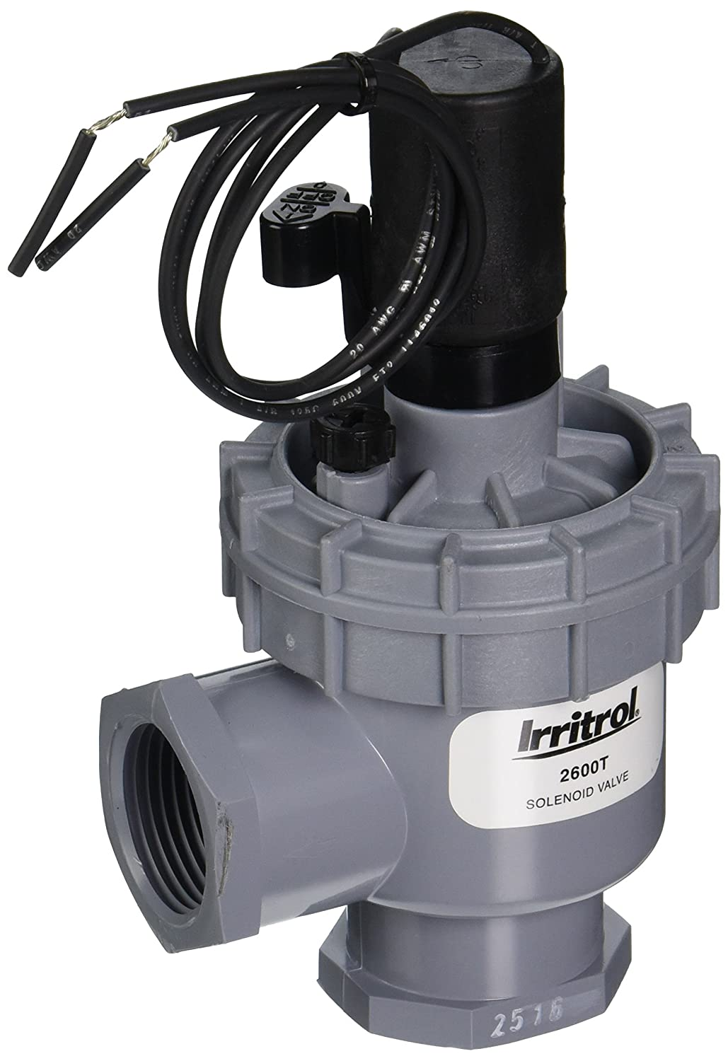 Irritrol 2600T Angle Valve with NPT Threaded Connection, 1'