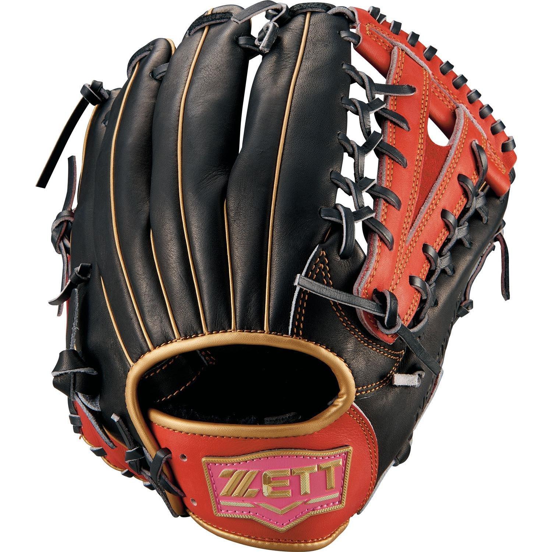ZETT(ゼット) ソフトボール グラブ(グローブ) ネオステイタス オールラウンド 右投用 BSGB51860 B07F7S61NR ブラック×レッドP(1964P) ブラック×レッドP(1964P)