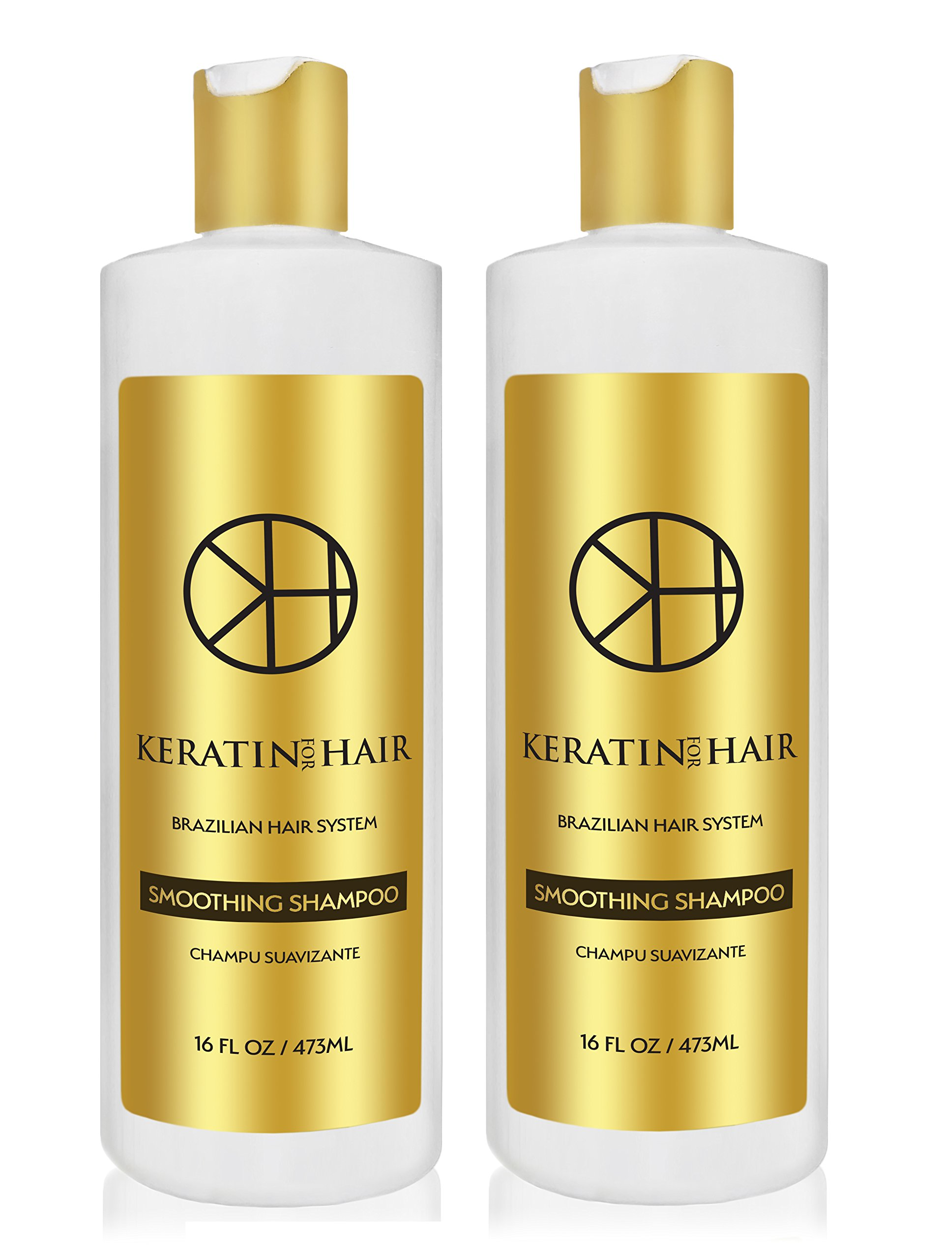 Keratin for Hair Shampoo x 2 with Complex Vitamins Argan Oil proteins collagen 16 Oz Sulfate Free for Hair Moisturizer Regrowth Repair Treatment prevent Hair Loss Thinning Promote Growth Men & Women