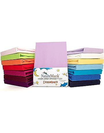 2er para niños de sábana bajera ajustable de punto Pack de ahorro 100% de algodón