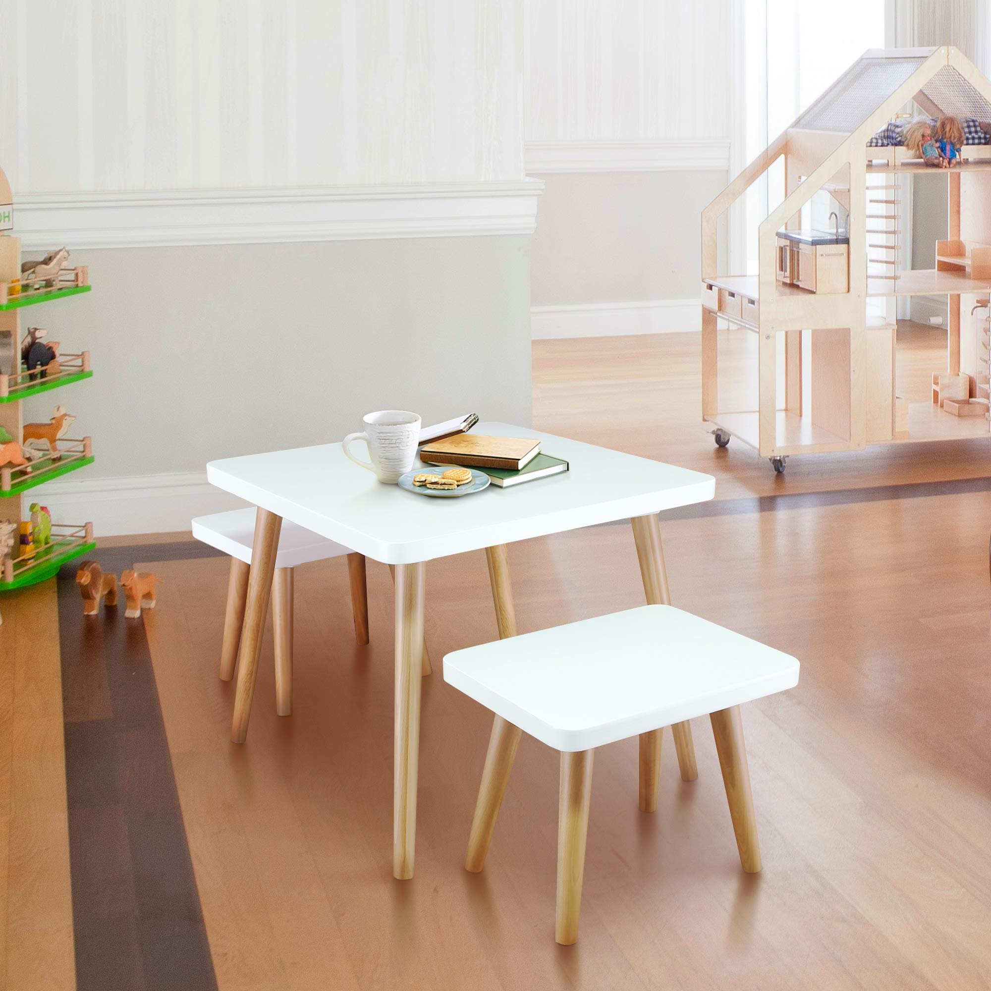 American Trails 560-31 The Easel Table & Chair Set Kid Table, Two-Tone (White, Natural) by American Trails (Image #2)