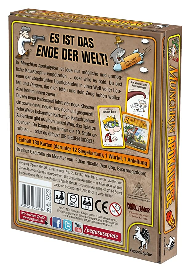 Pegasus Spiele 17240G - Munchkin Apokalypse: Amazon.de: Spielzeug