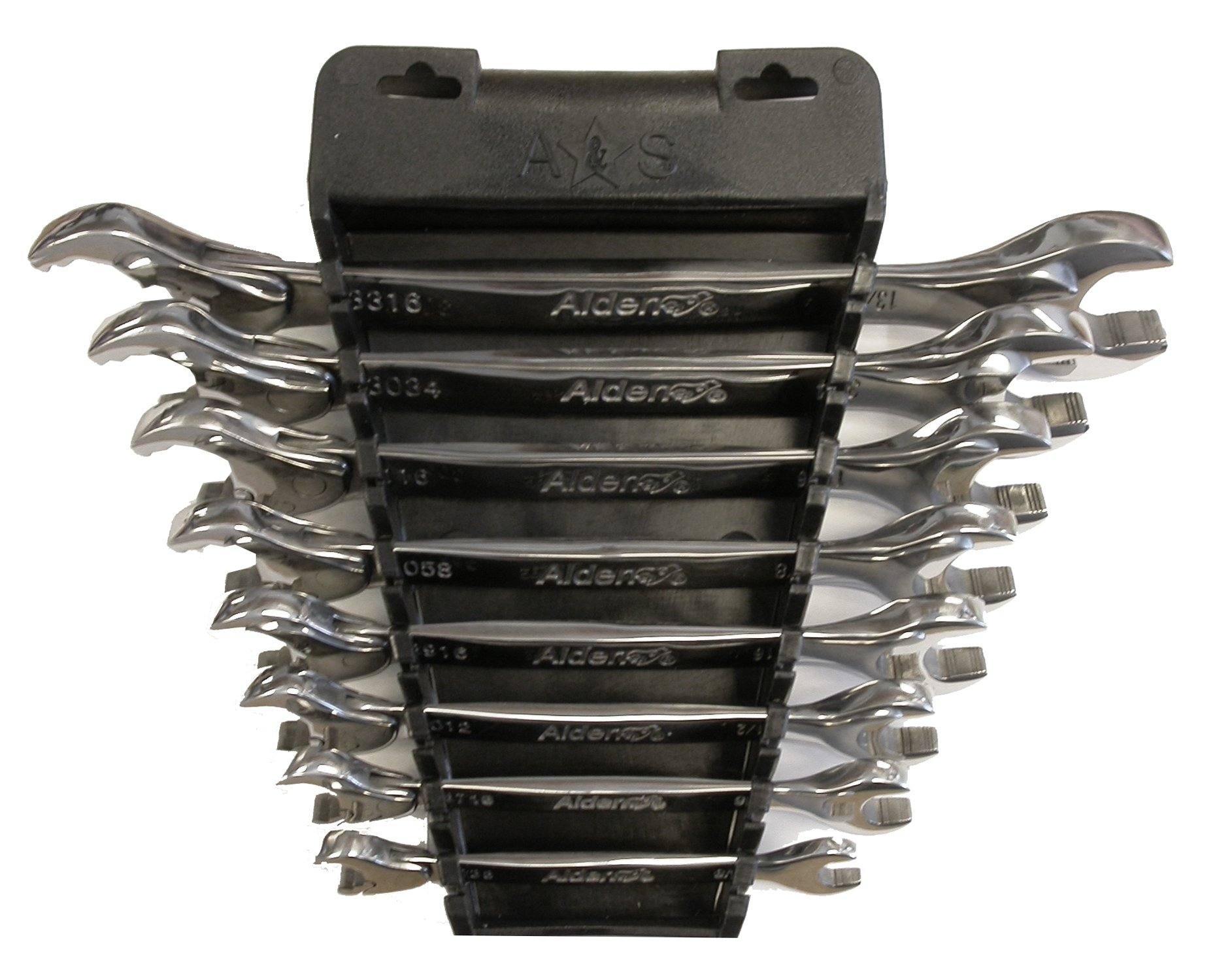 Alden Wrench 56048 Ratching Plus Open-End 8 Piece Wrench SAE Set by Alden