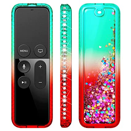 Fintie Protective Case for Apple TV 4K 5th Honey Comb Series Green Glow in The Dark Lightweight Anti Slip Shock Proof Silicone Cover for Apple TV Siri Remote Controller Casebot 4th Gen Remote