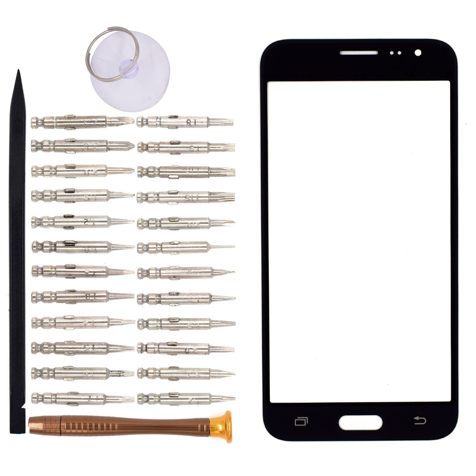 Vidrio Frente para Samsung Galaxy J32016 negro GOODYITOU
