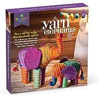 Anna Williams- Kit CREA Elefantes con Hilos, Multicolor