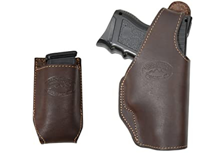 Hunting Sporting Goods New Barsony Burgundy Leather Belt Owb Holster Mag Pouch Ruger Full Size 9mm 40