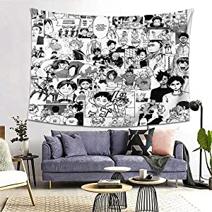Haikyuu!!-Manga Collage Wall Tapestry Apestry Album 3D Wall Hanging Art Home Decor Wave Tapestries