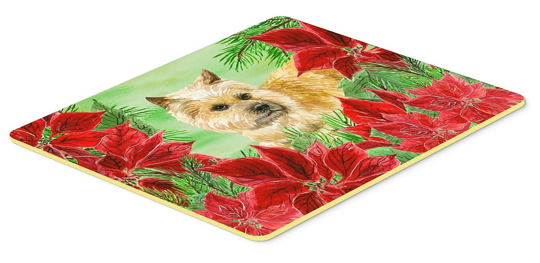 Caroline's Treasures CK1338JCMT Cairn Terrier Poinsettas Kitchen Mat 24 x 36' Multicolor