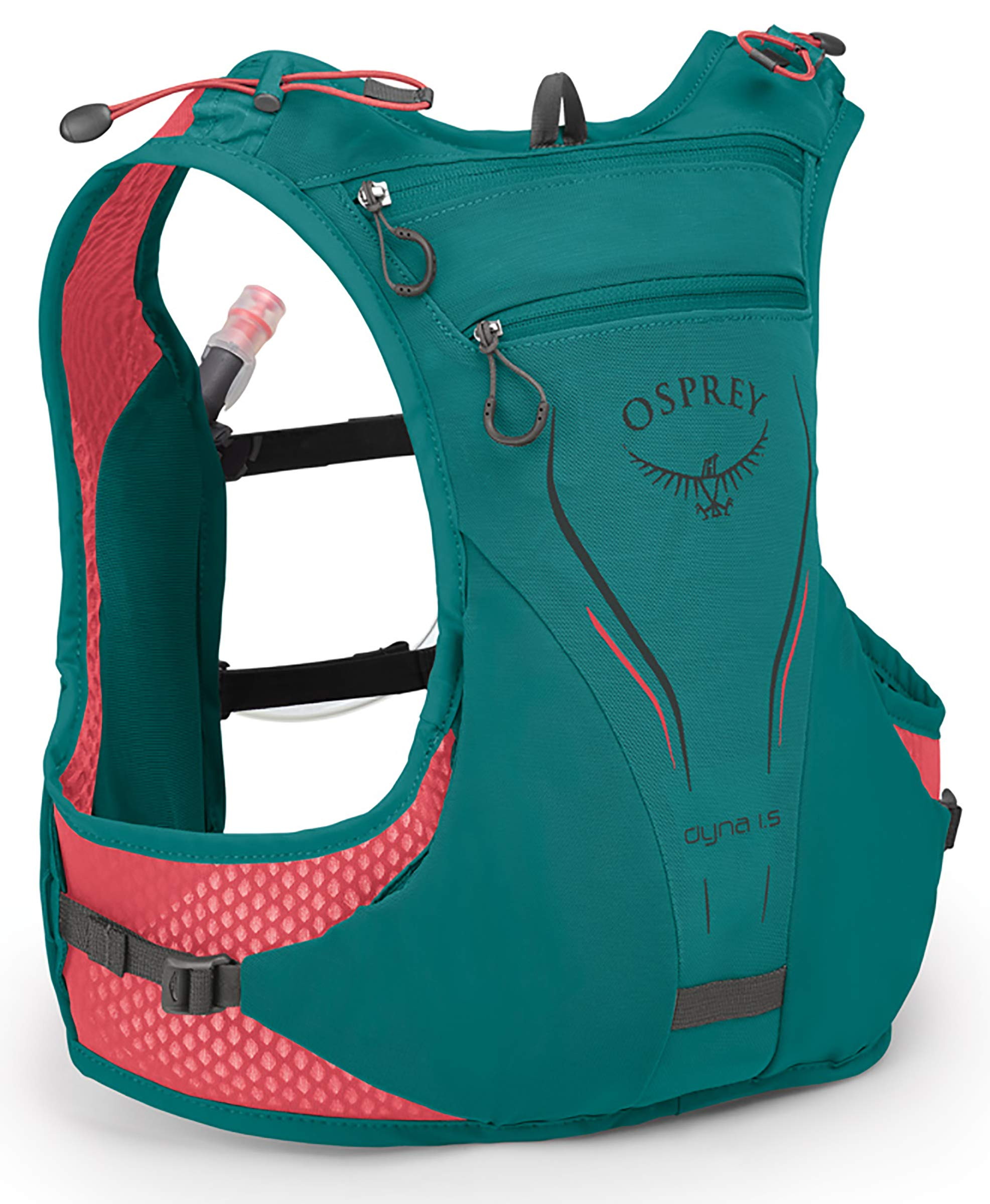 Osprey Packs Dyna 1.5L Women's Running Hydration Vest, Reef Teal, WXS/Small