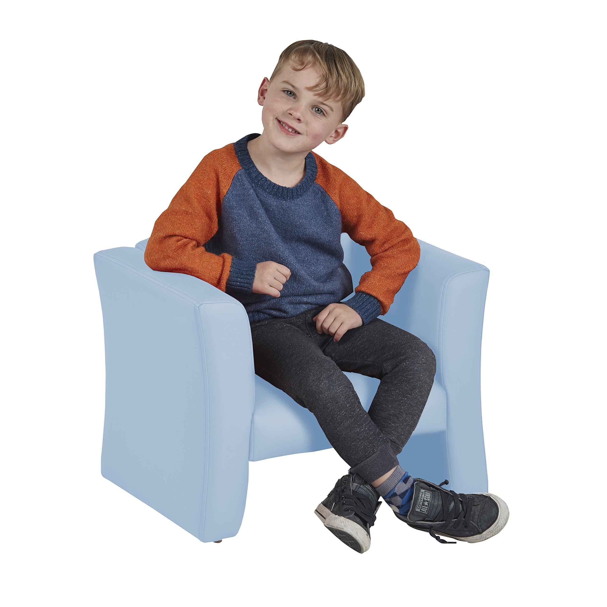 ECR4Kids SoftZone Gum Drop Upholstered Chair for Kids - Daycare, Homeschool, Classroom Furniture, Home Decor - Powder Blue