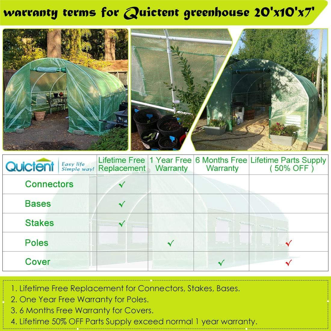 Quictent GM1306 Portable Greenhouse 20x10x6 Patio, Lawn & Garden ...
