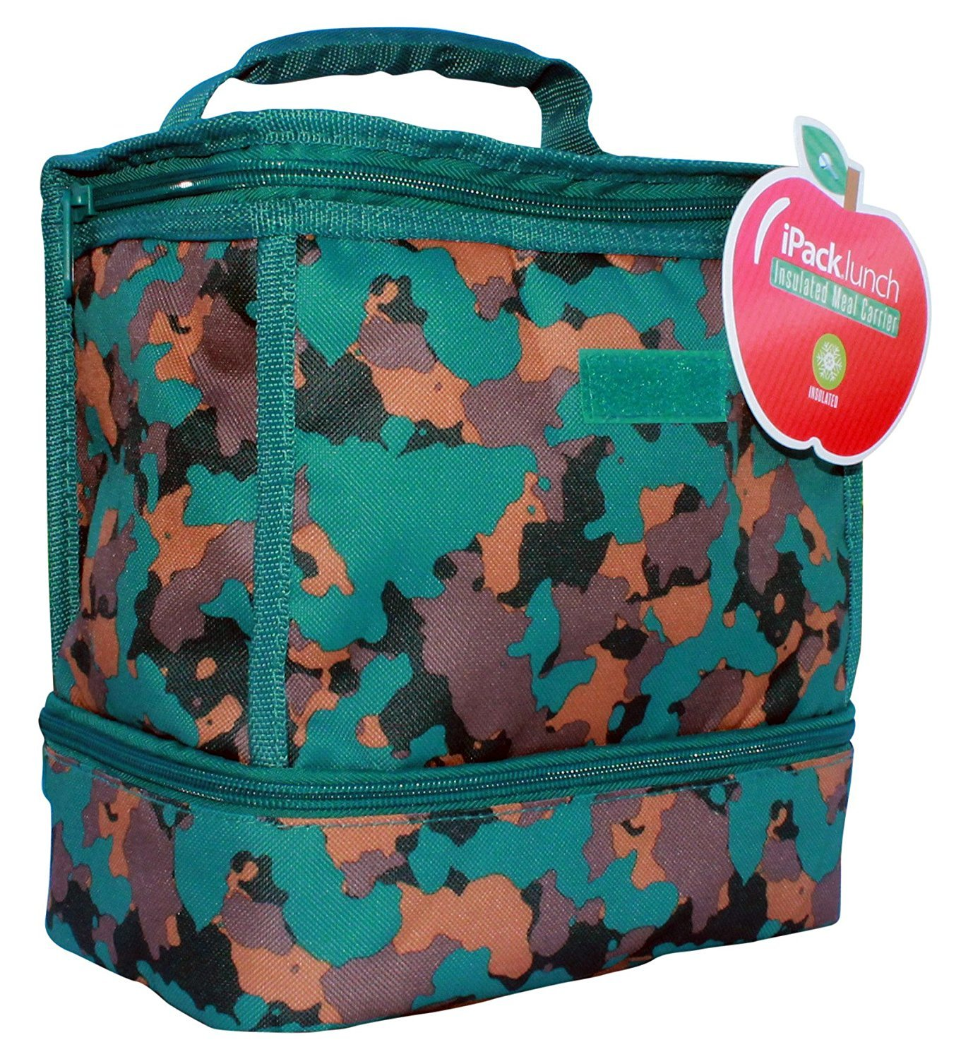 iPack lunch Insulated Meal Carrier Blue Camouflage