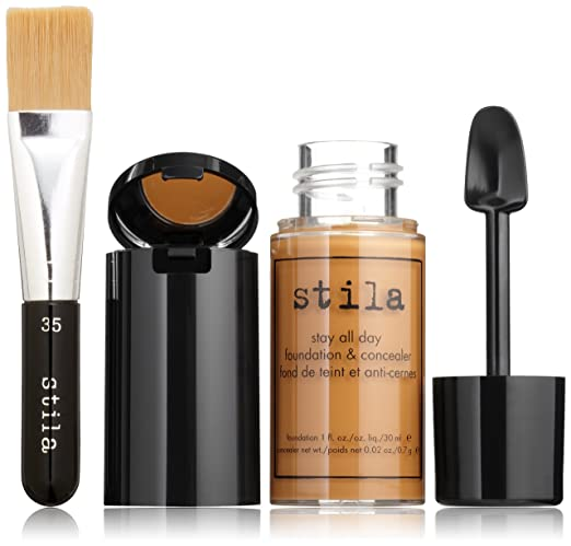 Amazon.com: stila Stay All Day Foundation, Concealer & Brush Kit, Maple: Luxury Beauty