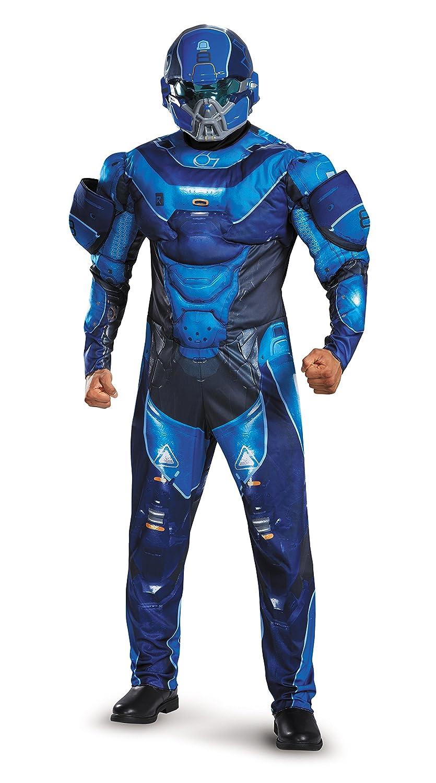 Adult Blue Spartan Muscle Chest Fancy dress costume X-Large